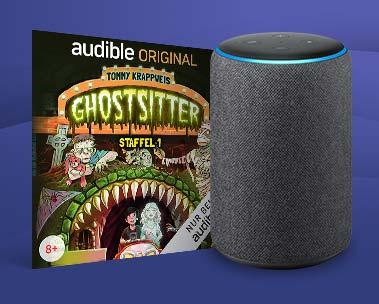 """""""Ghostsitter"""" kostenlos mit Alexa hören. Sagen Sie einfach """"Alexa, lies ein Kinder-Hörspiel."""""""