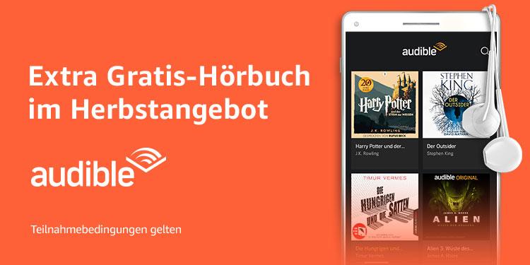 Ein extra Gratis-Hörbuch im Audible Herbst-Spezialangebot
