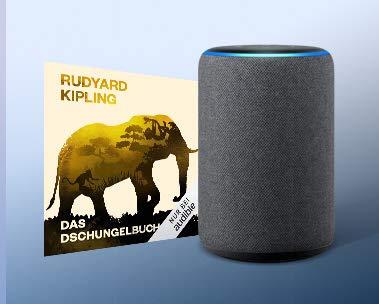 """""""Das Dschungelbuch"""" kostenlos mit Alexa hören. Sagen Sie einfach """"Alexa, lies 'Das Dschungelbuch' """""""