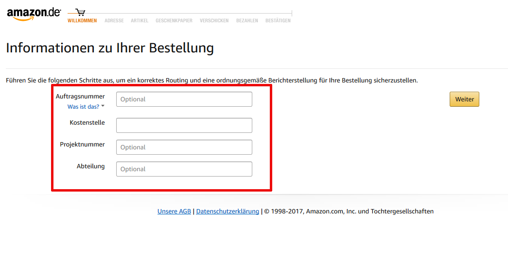 Amazon business richtlinie bestellung