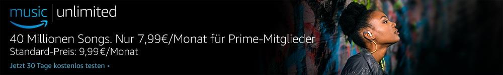 Amazon Music Unlimted - 30 Tage kostenlos testen.