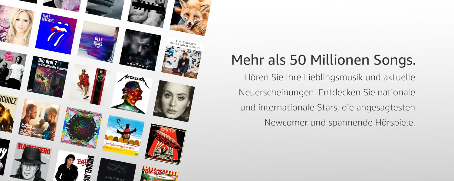 Amazon Music Unlimited 40 Millionen Songs