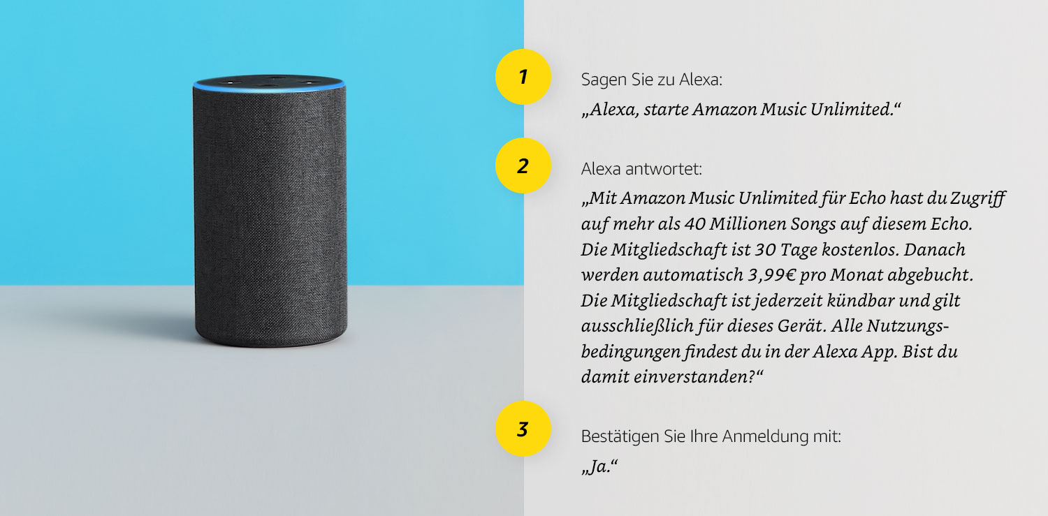 Amazon Music Unlimited und Alexa