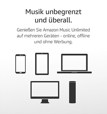 Amazon Music Unlimited App, ohne Werbung, offline