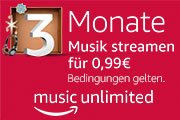 Amazon Music Unlimited für 0.99€
