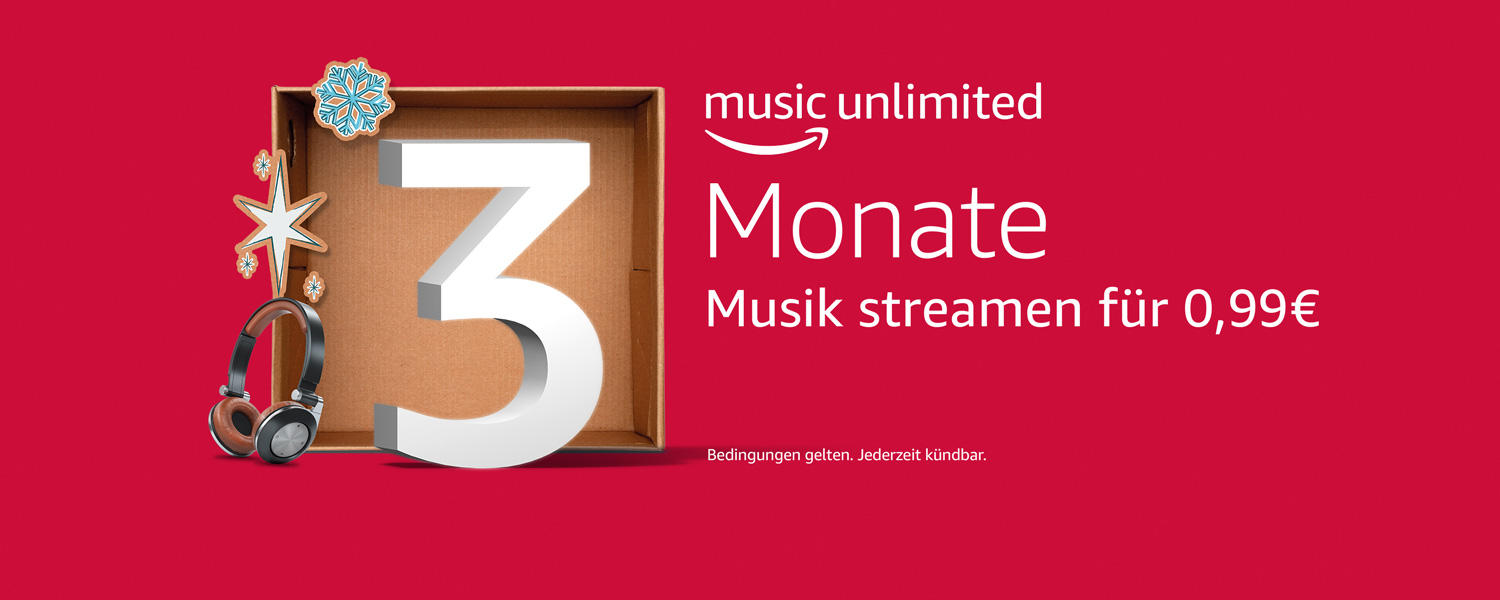 Amazon Music Unlimited 30 Tage kostenlos testen