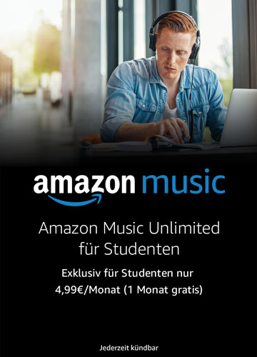 Amazon Music Unlimited für Studenten