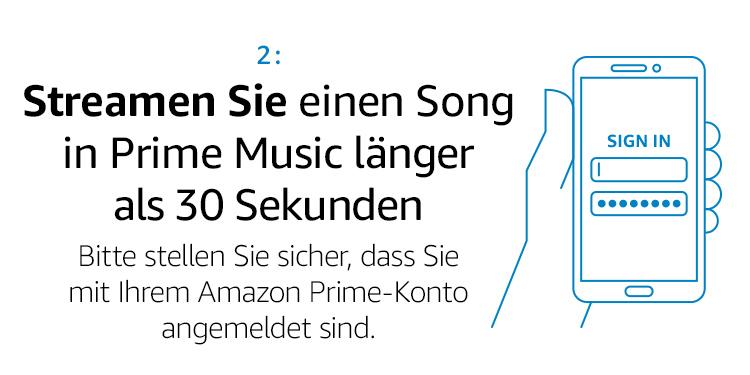 Streamen Sie einen Song in Prime Music länger als 30 Sekunden