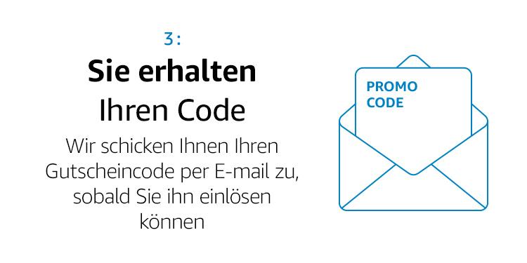 Sie erhalten Ihren Code per E-Mail
