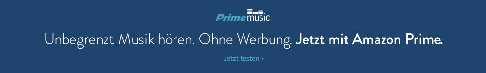 Unbegrenzt Musik hören. Ohne Werbung. GRATIS mit Amazon Prime.