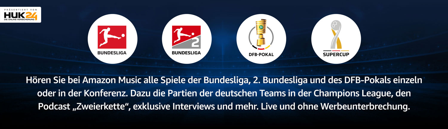 Bundesliga live bei Amazon Music