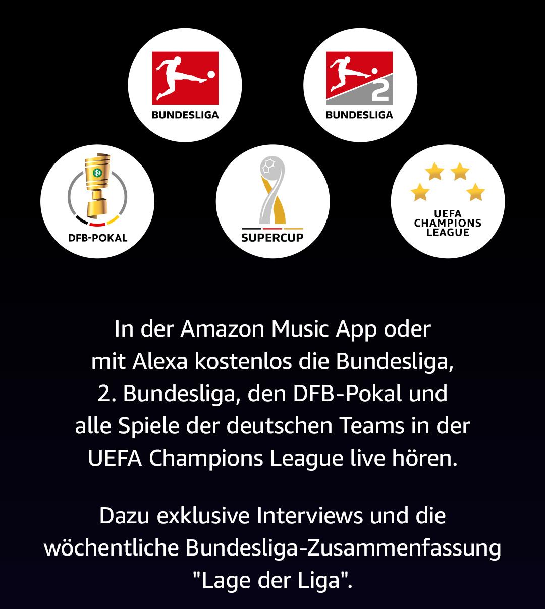 Kostenlos Bundesliga live bei Amazon hören