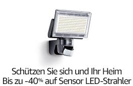 Schützen Sie sich und Ihr Heim: Bis zu -40% auf Sensor LED-Strahler von Steinel