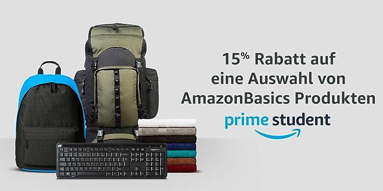 15% Rabatt auf eine Auswahl von AmazonBasics Produkten