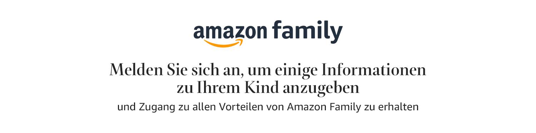 Melden Sie sich an, um ein Profil für Ihr Kind anzulegen und alle Vorteile von Amazon Family zu erhalten