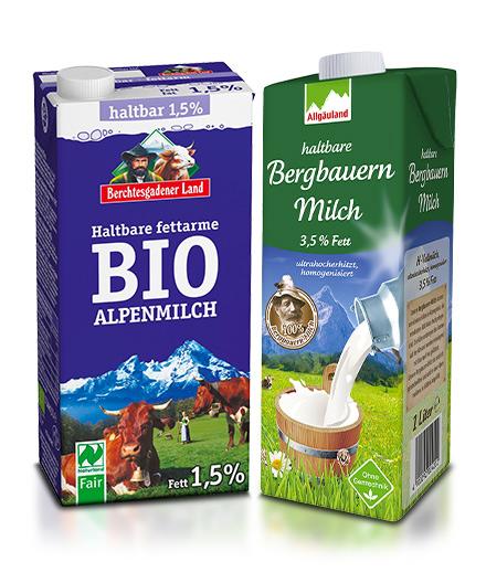 Milch, Kaffee, Tee