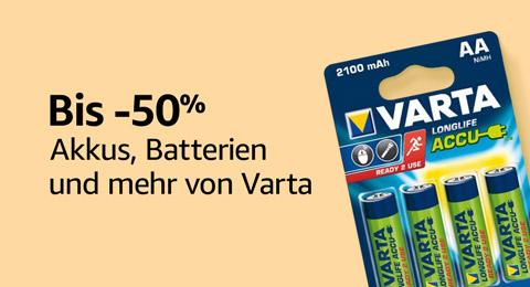 Bis zu -50% auf Batterien, Akkus und vieles mehr von VARTA