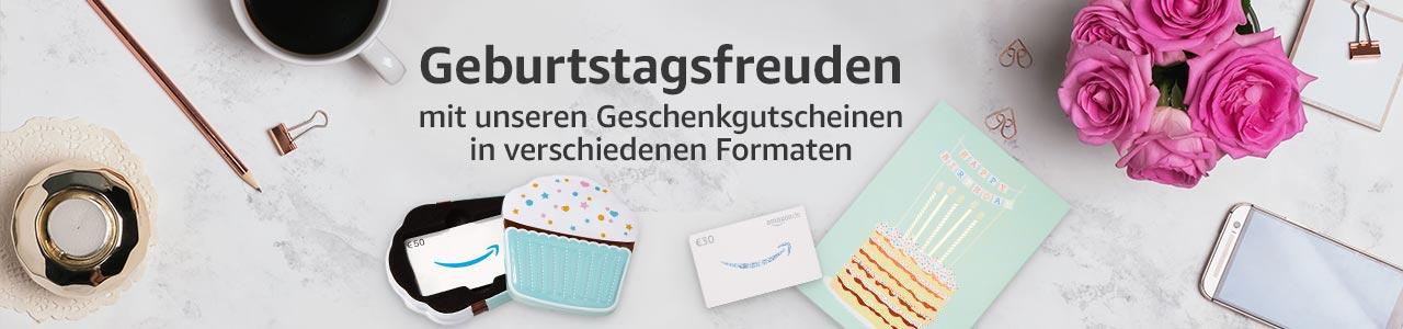 Amazon Geschenk-Gutscheine in verschiedenen Formaten