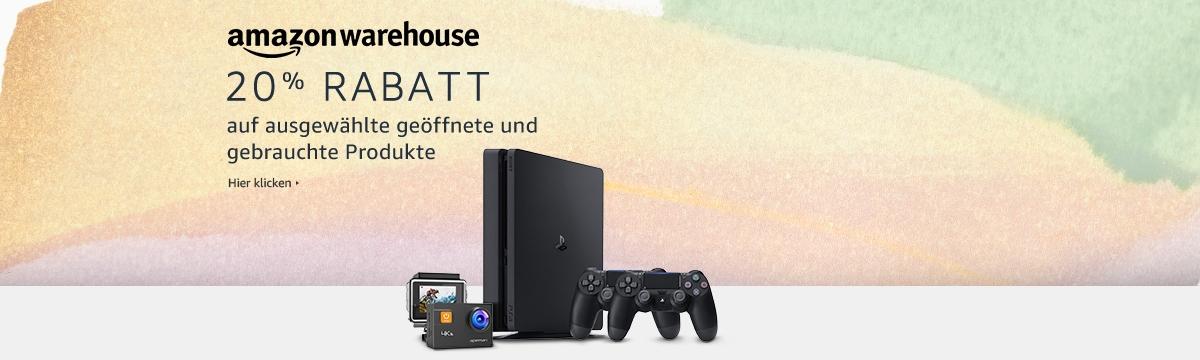 [amazon.de] -20% auf warehouse deals