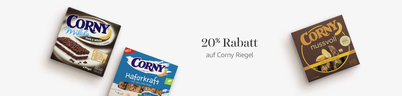 20% Rabatt auf Corny Riegel