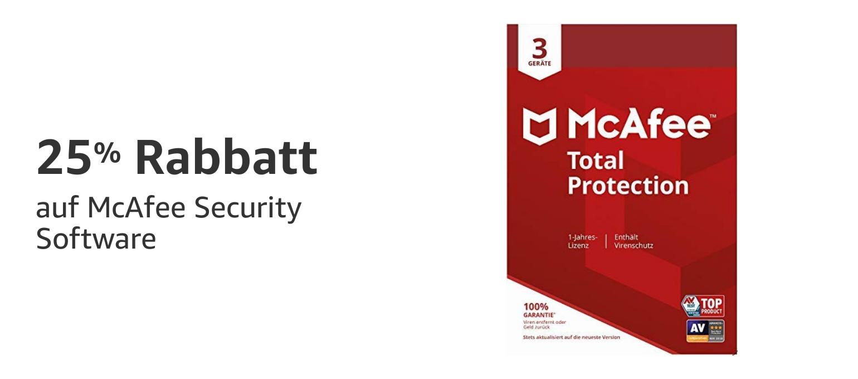 25% Rabatt auf McAfee Security Software