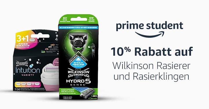 10% Rabatt auf Wilkinson Rasierer und Rasierklingen