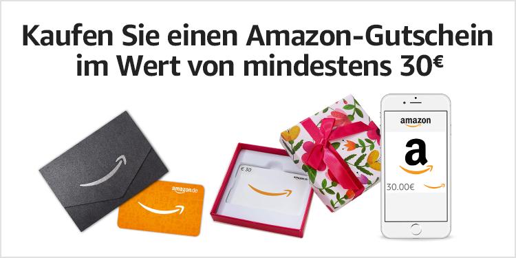 Kaufen Sie einen Amazon-Gutschein im Wert von mindestens 40€.