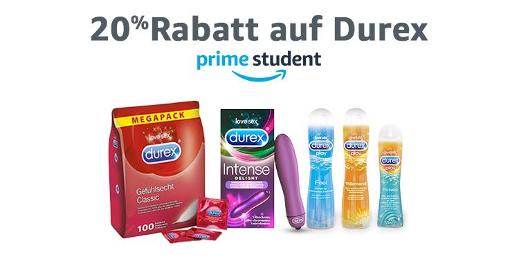 20% Rabatt auf Durex für Prime Student Mitglieder
