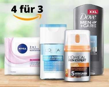 Beauty-Angebot: Nimm 4, zahl 3