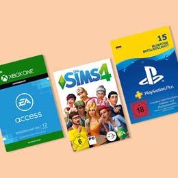 Sonderangebote auf ausgewählte Game-Downloads