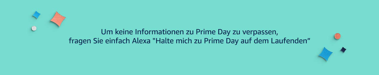 Halte mich zu Prime Day auf dem Laufenden