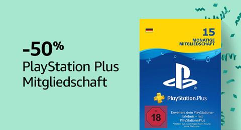 -50% auf Playstation Plus Mitgliedschaft