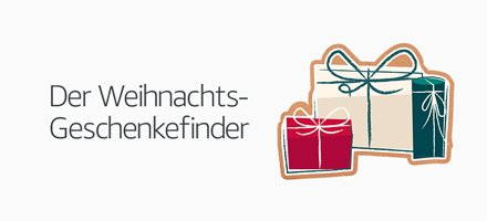Entdecken Sie den Geschenkefinder