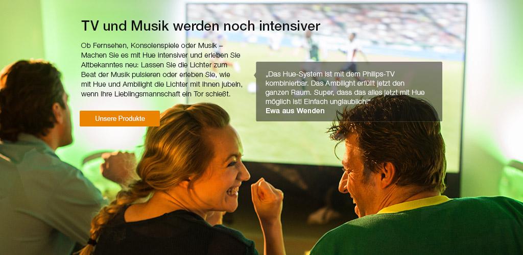 TV und Musik werden noch intensiver