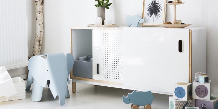 Kinderzimmer Arrangement: Blau und Weiß