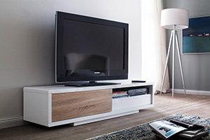 robas lund 59077we4 fashion media tv lowboard eiche s gerau nachbildung 1 schiebet r 1. Black Bedroom Furniture Sets. Home Design Ideas