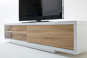 Robas Lund 59077WE4 Fashion Media TV Lowboard, Eiche sägerau ...