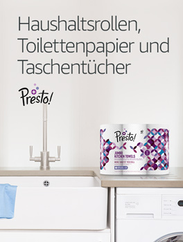 Presto!- Haushaltsrollen, Toilettenpapier und Taschentücher