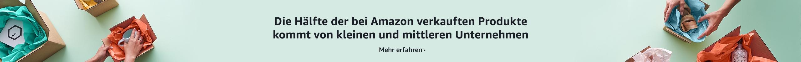 Die Hälfte der bei Amazon verkauften Produkte kommt von kleinen und mittleren Unternehmen