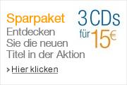 3 CDs für 15 EUR
