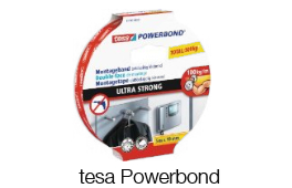 tesa Powerbond – die saubere Lösung zum Montieren und Befestigen