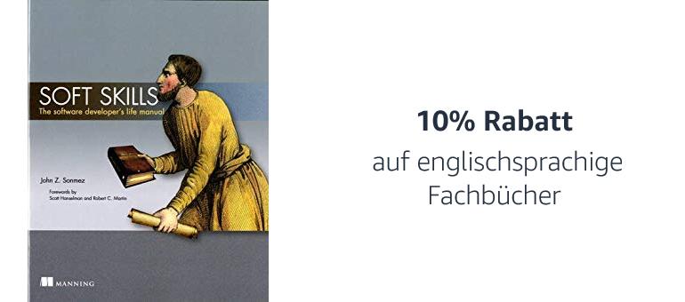 10% Rabatt auf englische Fachbücher