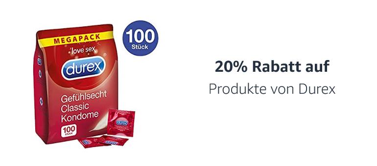 20% Rabatt auf Produkte von Durex