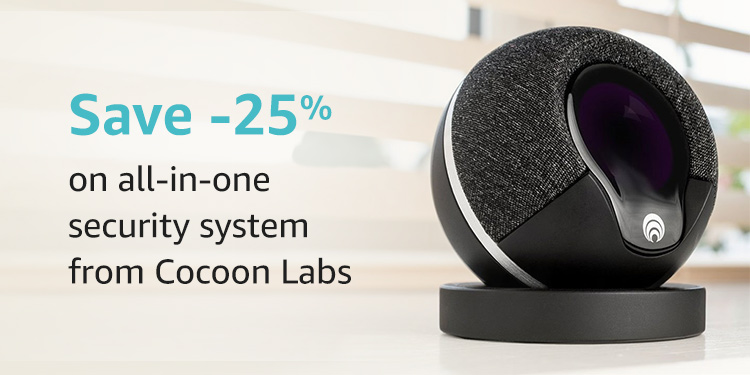 Save 25% on the all-in-one smart home security system from Cocoon Labs