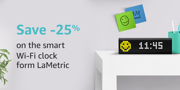 Save 25% on  the smart clock from LaMetric