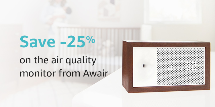 Save 25% on the air quality monitor from Awair