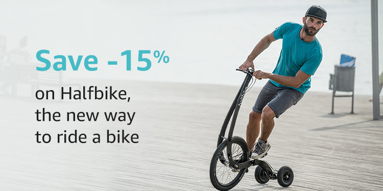 Save 15% on Halfbike, the new way to ride a bike
