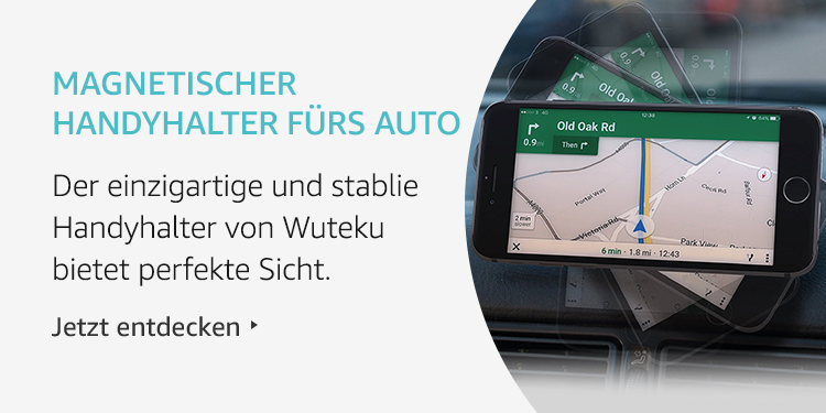 Amazon Launchpad Start-up-Produkte: Wuteku magnetische Handyhalterung fürs Auto