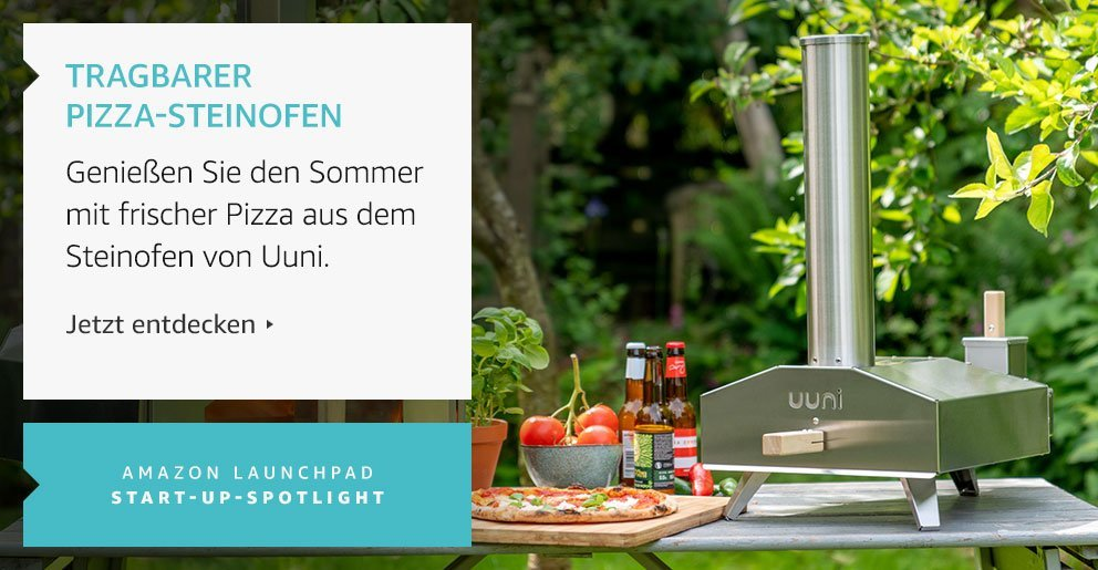 Amazon Launchpad Start-up: Tragbarer Pizza-Steinofen