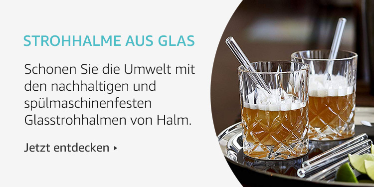 Amazon Launchpad Start-up-Produkte: Strohhalme aus Glas